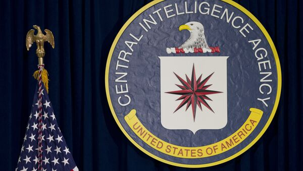 The CIA seal is seen displayed before President Barack Obama speaks at the CIA Headquarters in Langley, Va., Wednesday, April 13, 2016 - Sputnik International
