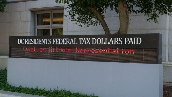 Washington, DC residents pay tax but receive no congressional representation. - Sputnik International