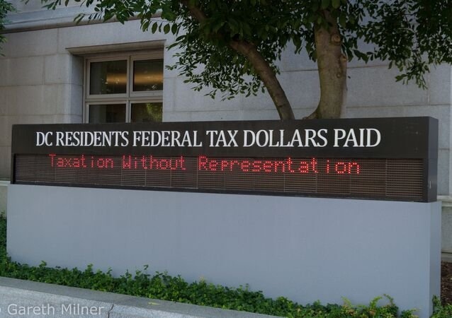 Washington, DC residents pay tax but receive no congressional representation.