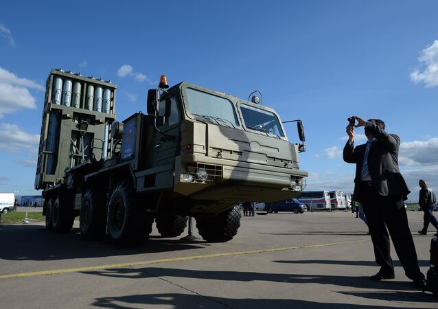 Anti-aircraft guided missile system Vityaz at the MAKS-2013 Air Show in Zhukovsky, the Moscow suburbs
