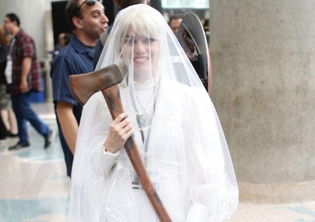 Bride and axe