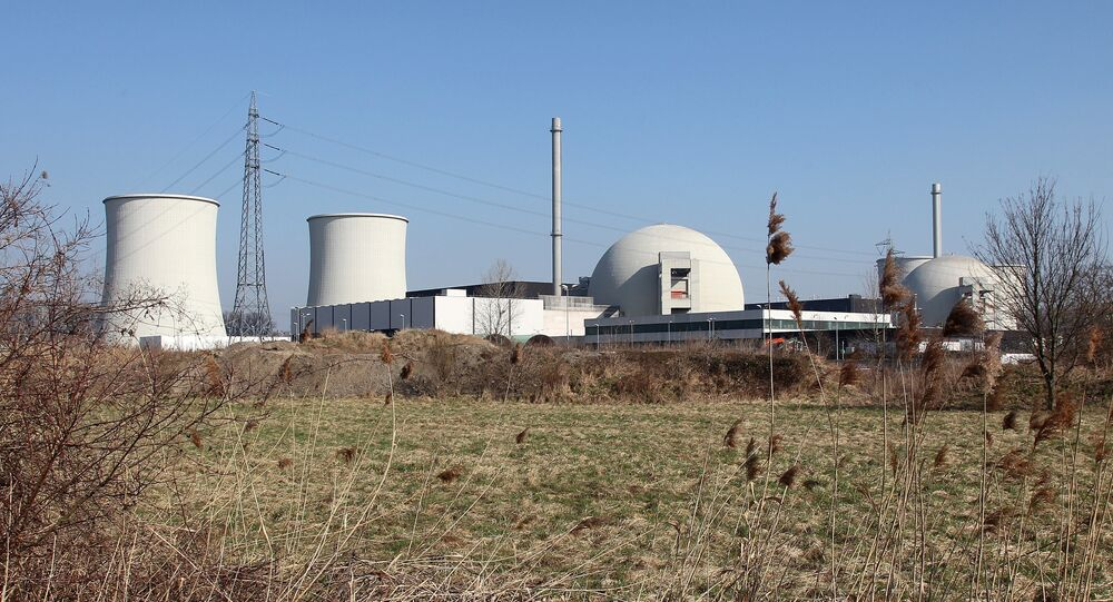 Block A (R) and B, the pressurised water reactors of the nuclear power plant Biblis in the southwestern German town of Biblis (File)