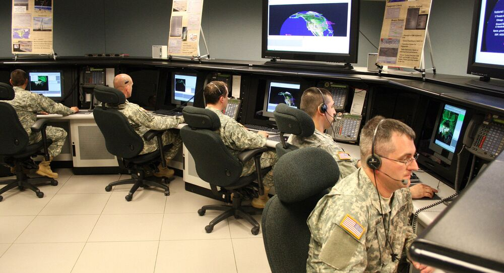 Alaska National Guard Soldiers operate the ground-based midcourse defense portion of the Ballistic Missile Defense System at Fort Greely, Alaska
