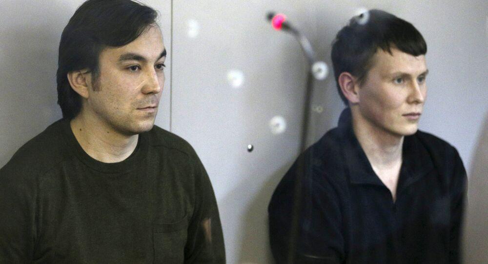 Yevgeny Yerofeyev (L) and Alexander Alexandrov