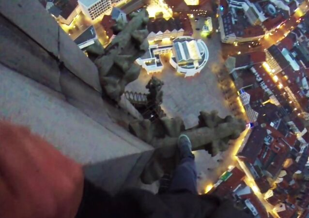 Climbing World highest Church Tower-GYK