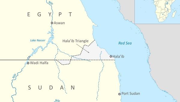 Map of Halaib Triangle between Egypt and Sudan - Sputnik International