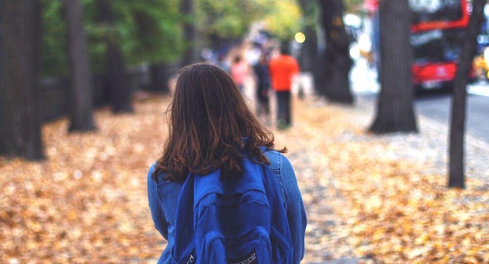 Schoolgirl in London