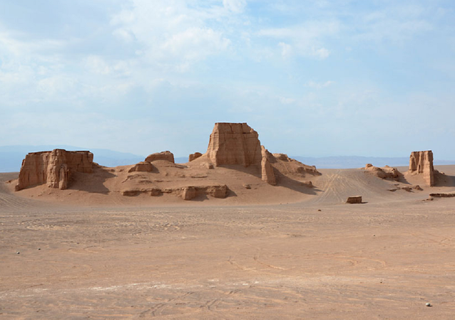 Kaluts at Dasht-e Lut desert north of Shahdad, Kerman province