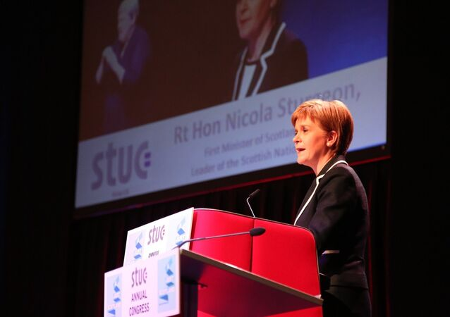 First Minister of Scotland Nicola Sturgeon at the STUC in Dundee.