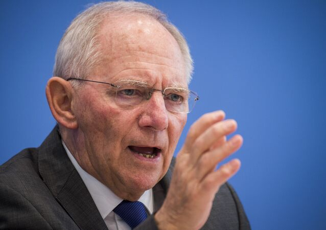 German finance minister Wolfgang Schaeuble speaks during a press conference on the 2017's budget in Berlin on March 23, 2016.