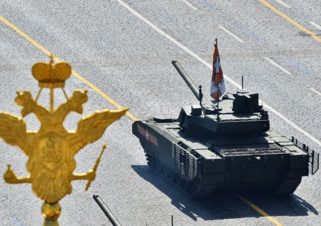 A T-14 tank with the Armata Universal Combat Platform at the military parade to mark the 70th anniversary of Victory in the 1941-1945 Great Patriotic War.