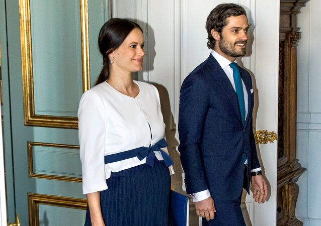 Princess Sofia and Prince Carl Philip are seen in Stockholm, Sweden, March 10, 2016. The Swedish Royal court announced on April 19, 2016 that the Princess has given birth to a healthy child.