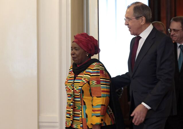 Russian Foreign Minister Sergei Lavrov's meeting with Chairperson of the African Union Commission Nkosazana Dlamini-Zuma