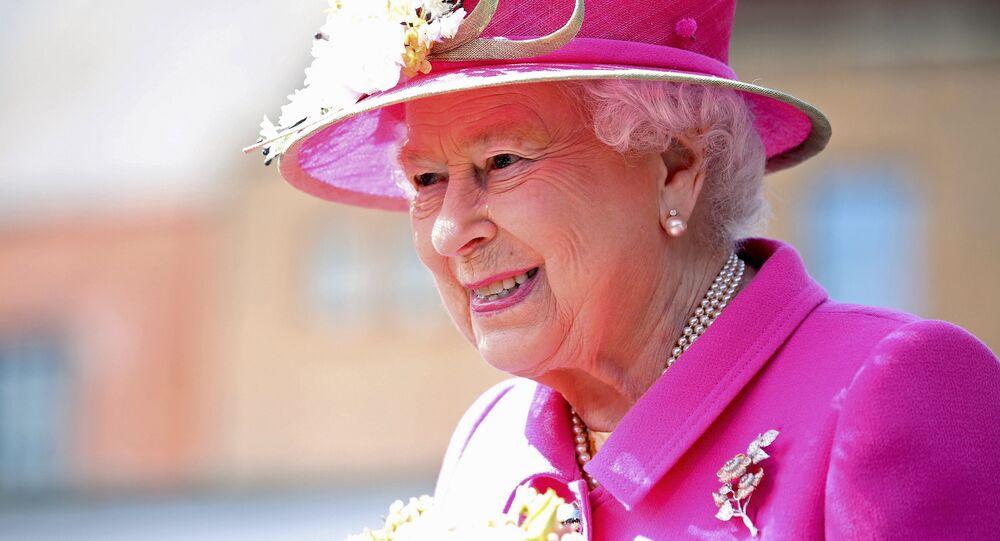 Queen Elizabeth II arrives at the Queen Elizabeth II delivery office in Windsor with Prince Philip, Duke of Edinburgh on April 20, 2016 in Windsor, Britain.