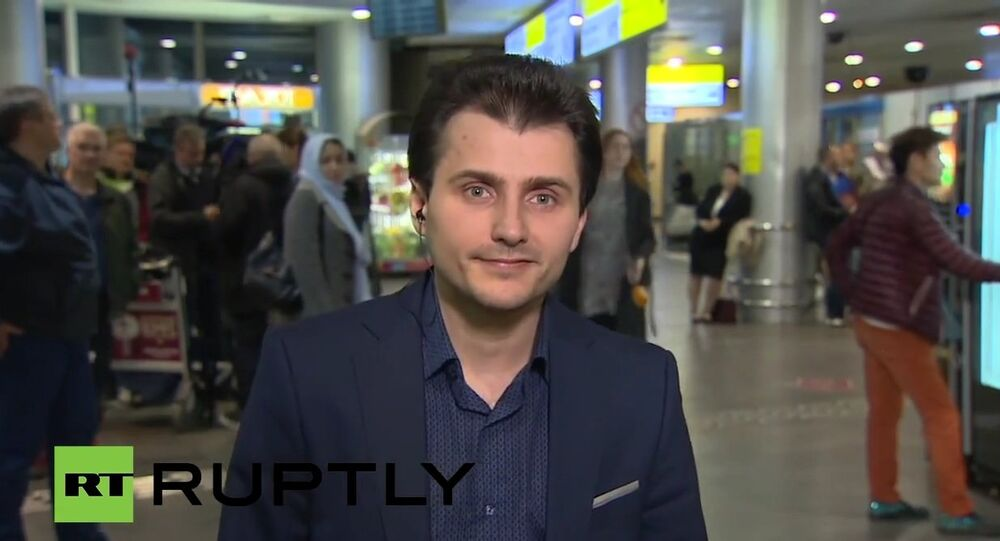 Sputnik's Turkish bureau chief Tural Kerimov is arrives in Moscow