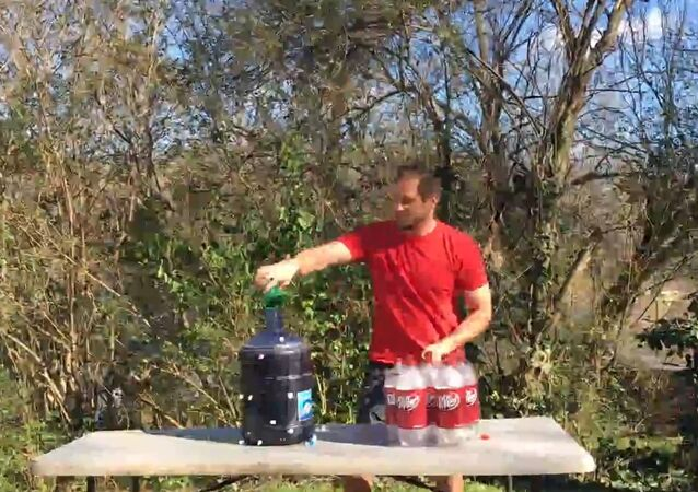 Making a Cocktail out of Dr. Pepper and Mentos