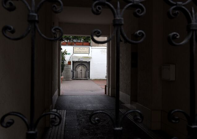 An outside view of the Moroccan mosque in the Duesseldorf´s district Oberbilk. (File)