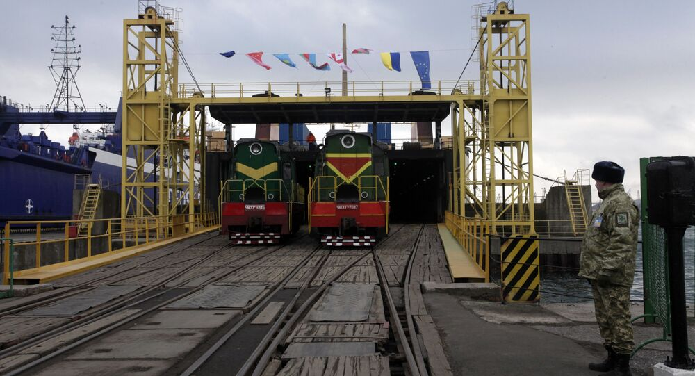 A new port facility for the railway link that intends to link China and Europe in the Black Sea port of Illichivsk in Odessa region, Ukraine, Friday, Jan. 15, 2016