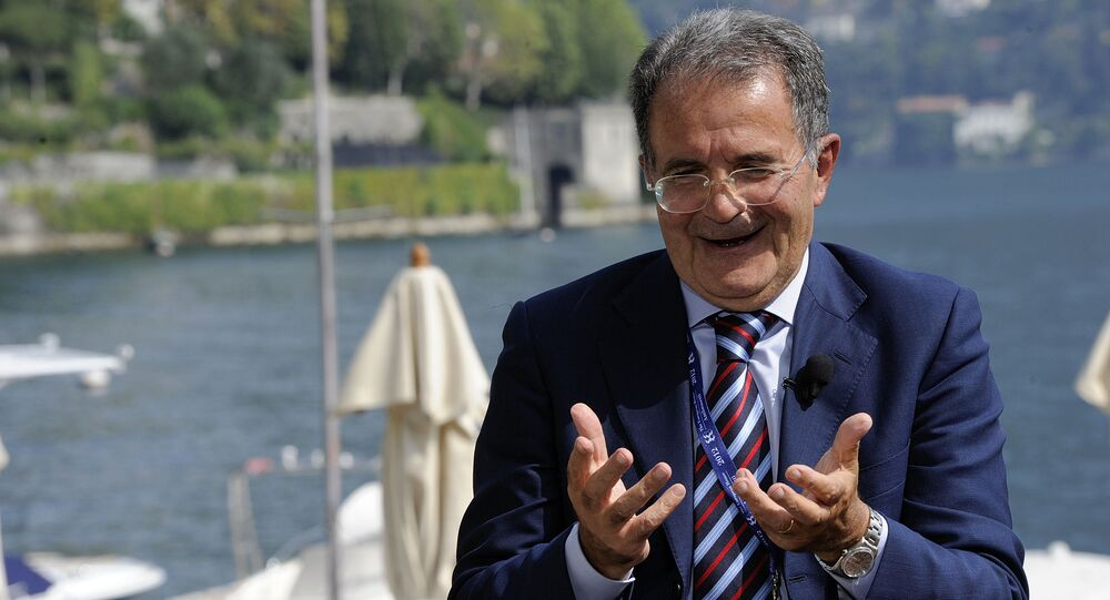 Former Italian Premier Romano Prodi (File)