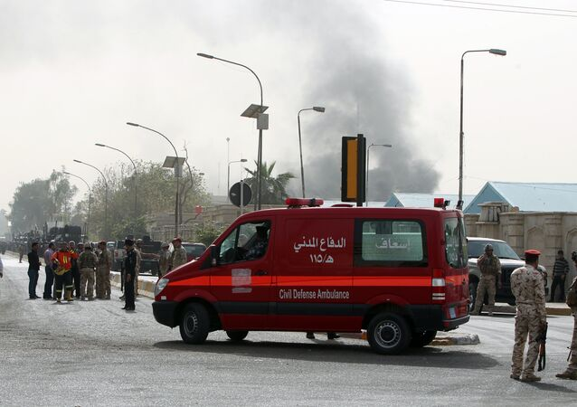 An ambulance in Baghdad. File photo