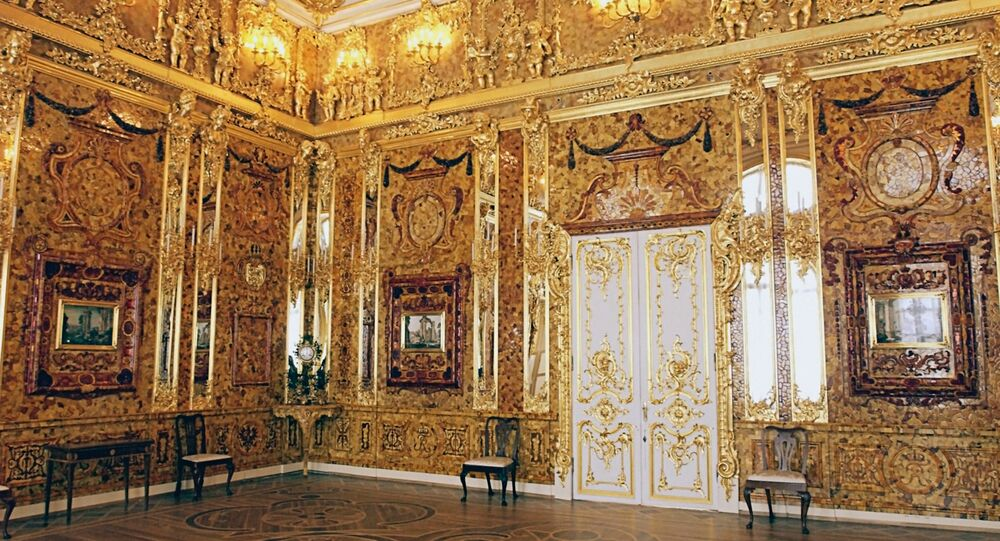 Amber Room in Catherine Palace