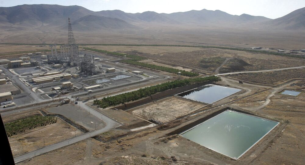 A general view shows a heavy water plant in Arak, 320 kms south of Tehran (File)