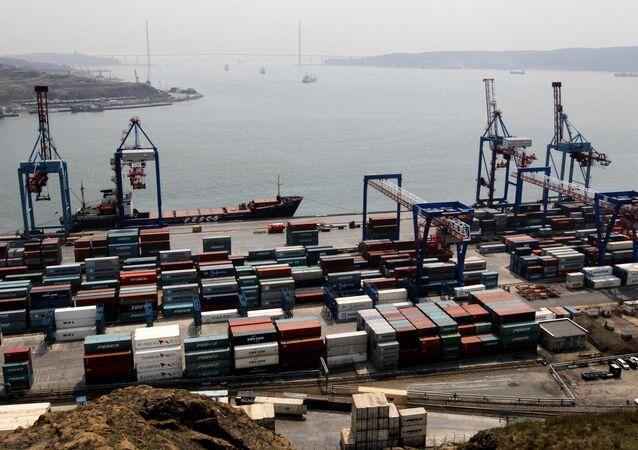 The Vladivostok merchant seaport