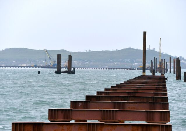 Construction of Kerch Strait Bridge in Crimea
