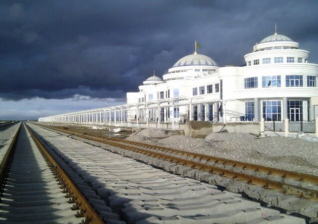 Bereket Railway Station in (Kazandzhik) is an important crossroad of the Trans-Caspian Railway and North-South Transnational Railway