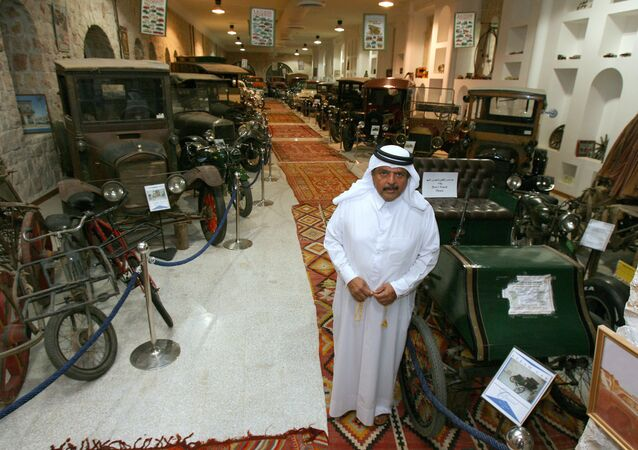 Qatari Sheikh Faisal bin Qassim al-Thani stands in his private museum in Doha. file photo