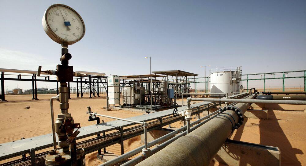 A general view of the El Sharara oilfield, Libya.