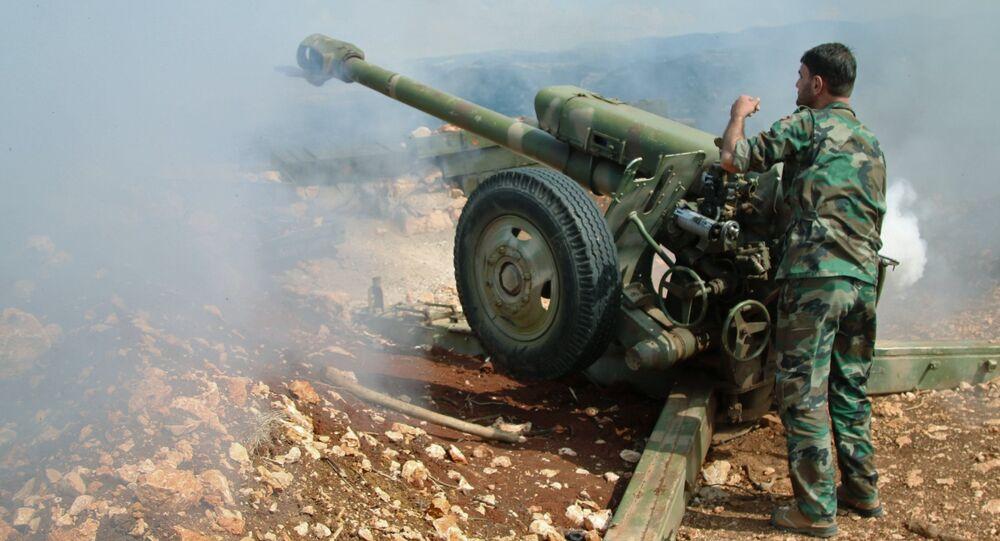 A Syrian Arab Army soldier
