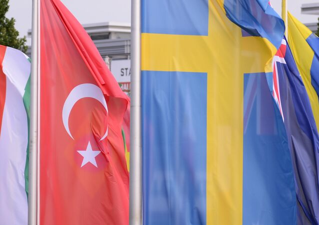 Swedish and Turkish flags