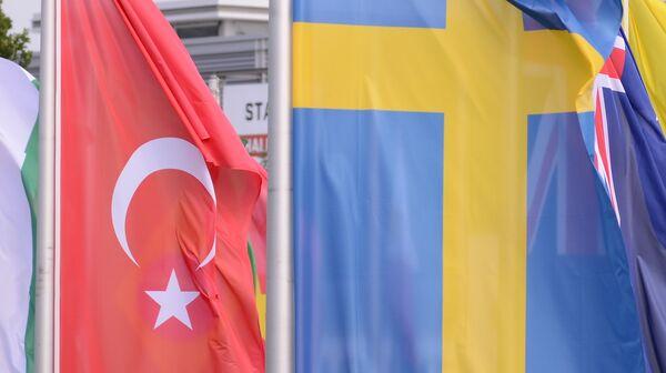 Swedish and Turkish flags - Sputnik International