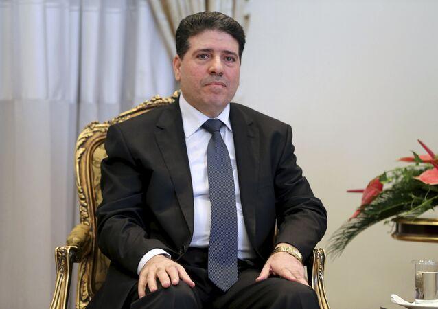 Syrian Prime Minister Wael Nader al-Halqi (File)