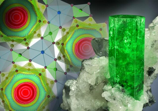 ORNL researchers discovered that water in beryl displays some unique and unexpected characteristics