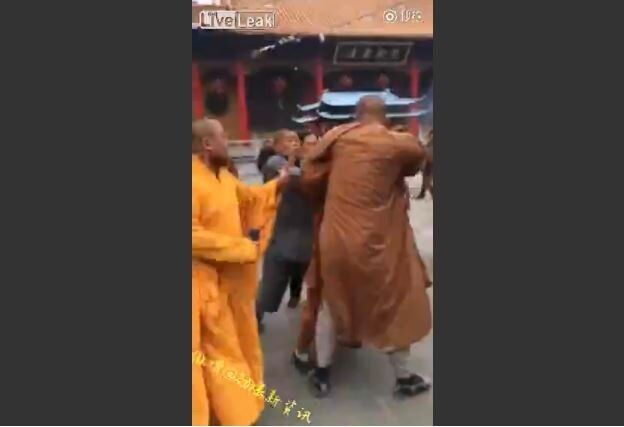 Monks fight over donation money