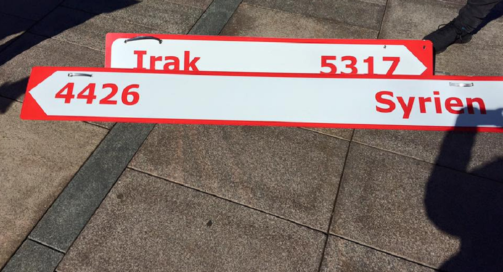 Signs of Syria and Irak