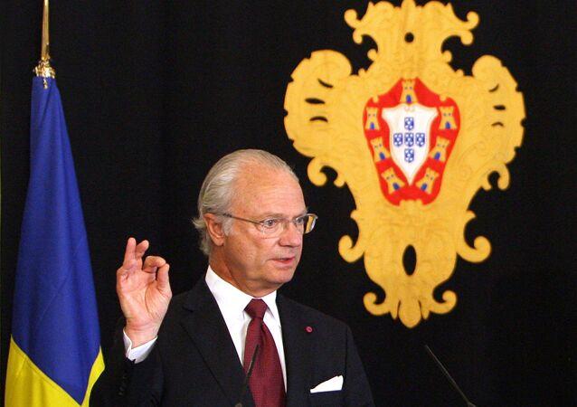 Swedish King Carl XVI Gustaf. (File)