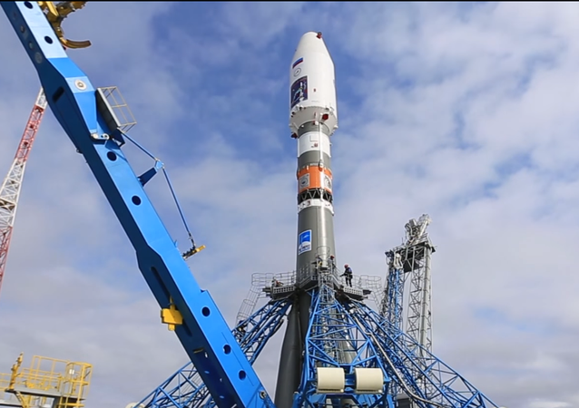 Vostochny Cosmodrone in Amur Region Soyuz-2.1a launch preparations (Screenshot from YouTube)