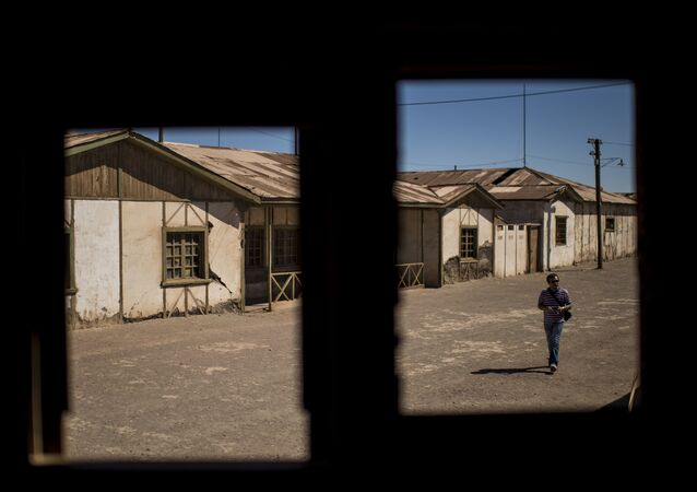 View at the ex Humberstone saltpeter, near Pozo Almonte in the Tarapaca Region -some 800 km north of Santiago, Chile- on April 20, 2016.