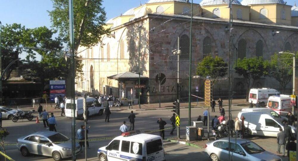 Near the Grand Mosque in Bursa explosion occurred
