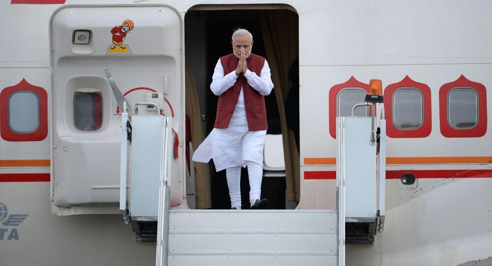 Narendra Modi  arrived in Ufa