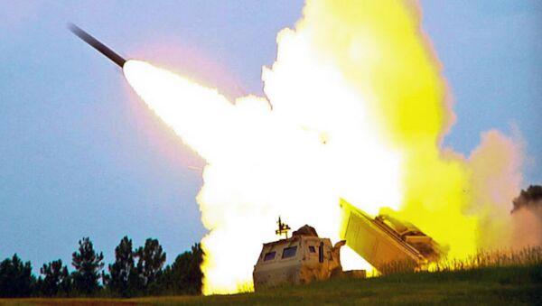M142 High Mobility Artillery Rocket System (HIMARS), a multiple rocket launcher - Sputnik International