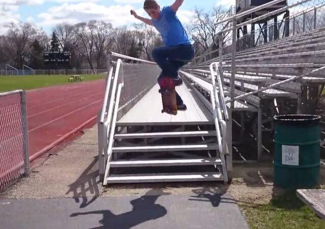 Overreaching Skateboard Fail