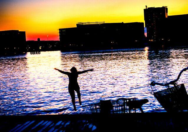 Swimming pool in the Copenhagen harbour