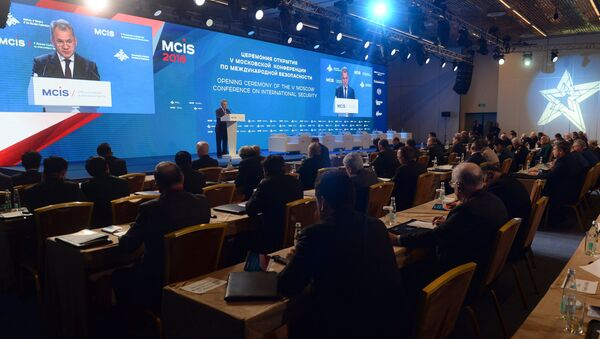 Russian Defense Minister Sergey Shoigu speaks at the 5th International Security Conference, Moscow - Sputnik International