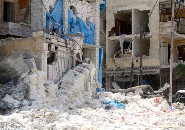 A view shows the damage at the Medecins Sans Frontieres (MSF)-backed al-Quds hospital after it was hit by airstrikes, in a rebel-held area of Syria's Aleppo, April 28, 2016.