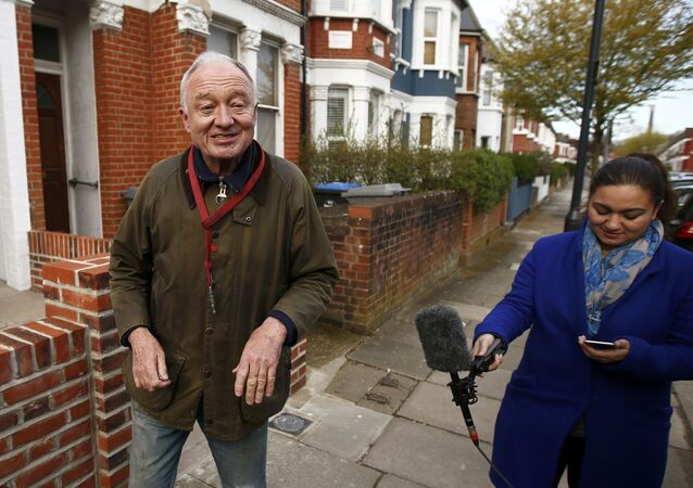 Former London Mayor Ken Livingstone speaks to members of the media as he leaves his home in London, Britain April 29, 2016.