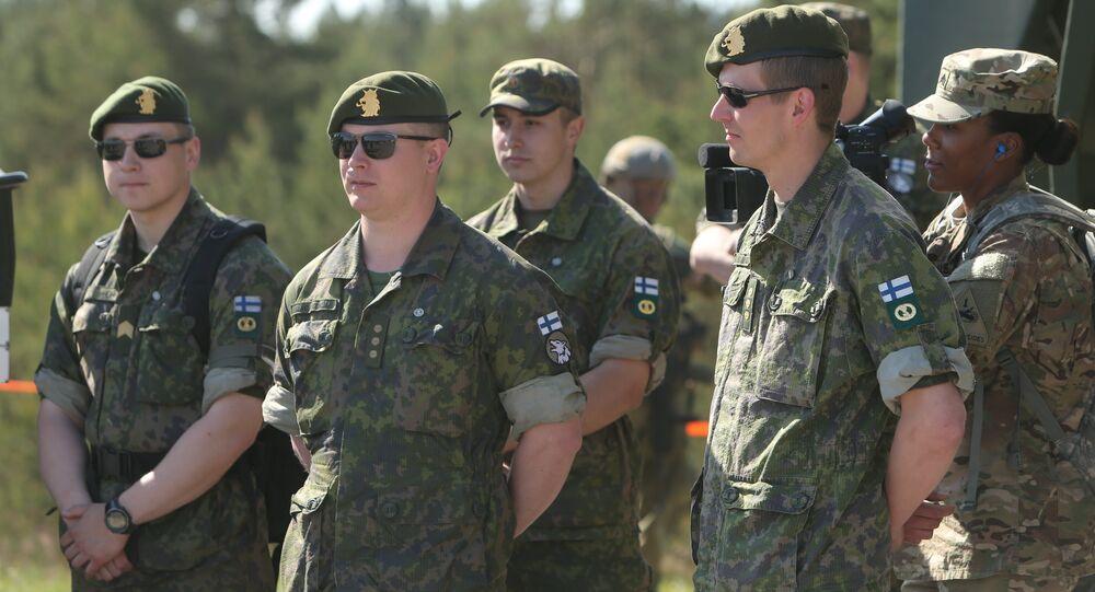 """Finnish soldiers, """"Saber Strike 2015"""""""